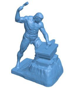 Men Greek God B003474 file stl free download 3D Model for CNC and 3d printer