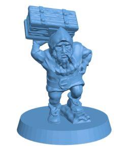 Men dwarf porter B002895 file stl free download 3D Model for CNC and 3d printer