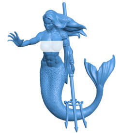 Mermaid B003749 file stl free download 3D Model for CNC and 3d printer