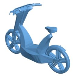 Mini scooter Electric Bicycle B003004 file stl free download 3D Model for CNC and 3d printer