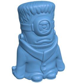 Minion Frankenstein B003230 file stl free download 3D Model for CNC and 3d printer