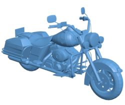 Motorcycle Harley-Davidson Road King B002861 file stl free download 3D Model for CNC and 3d printer