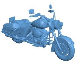 Motorcycle Harley-Davidson Road King B002861 file stl free download 3D Model for CNC and 3d printer