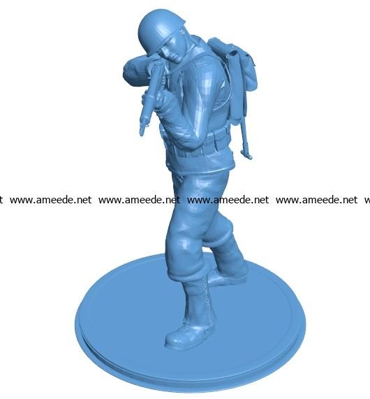 Mr Garand soldier B003390 file stl free download 3D Model for CNC and 3d printer