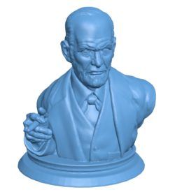 Mr Sigmund freud bust B003720 file stl free download 3D Model for CNC and 3d printer