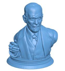 Mr Sigmund freud bust B003720 file stl free download 3D Model for CNC and 3d printer