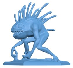 Murloc stand B002931 file stl free download 3D Model for CNC and 3d printer