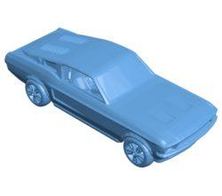 Mustang printable car B003392 file stl free download 3D Model for CNC and 3d printer