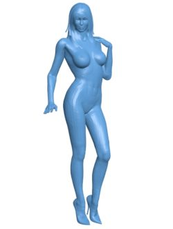 Naked girl B002864 file stl free download 3D Model for CNC and 3d printer