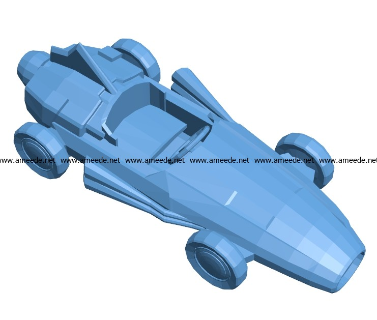 Old racing car B003686 file stl free download 3D Model for CNC and 3d printer