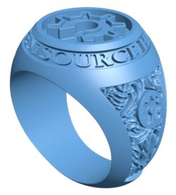 Open source ring B002885 file stl free download 3D Model for CNC and 3d printer
