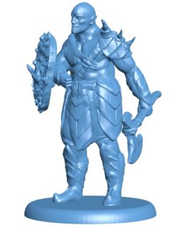 Orc Barbarian B003723 file stl free download 3D Model for CNC and 3d printer