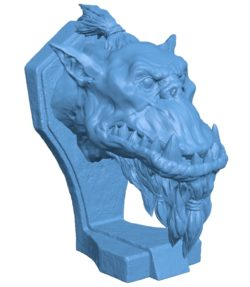 Orc head B002873 file stl free download 3D Model for CNC and 3d printer