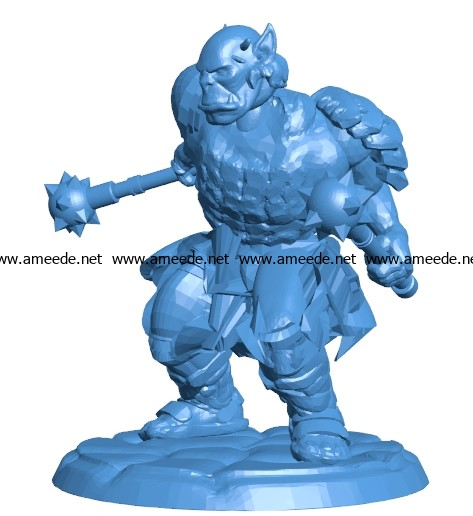 Orc men B003747 file stl free download 3D Model for CNC and 3d printer