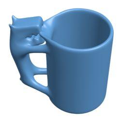 Original mug Cup B002887 file stl free download 3D Model for CNC and 3d printer