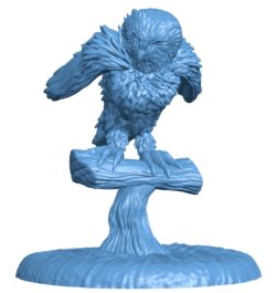 Owl Action B003083 file stl free download 3D Model for CNC and 3d printer