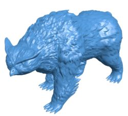 Owl bear B003746 file stl free download 3D Model for CNC and 3d printer