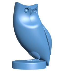 Owl figurine B002896 file stl free download 3D Model for CNC and 3d printer