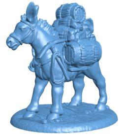Pack Mule B003262 file stl free download 3D Model for CNC and 3d printer