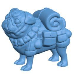 Packpug Bigger Dog B003087 file stl free download 3D Model for CNC and 3d printer