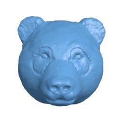 Panda Head B002917 file stl free download 3D Model for CNC and 3d printer