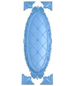Pattern Door A003215 wood carving file stl for Artcam and Aspire jdpaint free vector art 3d model download for CNC