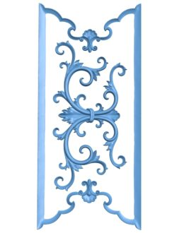 Pattern flowers A003229 wood carving file stl for Artcam and Aspire jdpaint free vector art 3d model download for CNC