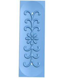 Pattern flowers A003233 wood carving file stl for Artcam and Aspire jdpaint free vector art 3d model download for CNC