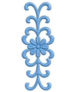 Pattern flowers A003234 wood carving file stl for Artcam and Aspire jdpaint free vector art 3d model download for CNC