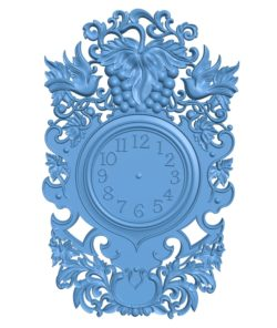 Pattern wall clock A003221 wood carving file stl for Artcam and Aspire jdpaint free vector art 3d model download for CNC