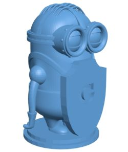 Pawn Minion chess B002982 file stl free download 3D Model for CNC and 3d printer