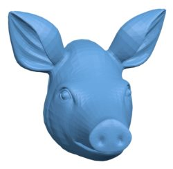 Pig Head B002918 file stl free download 3D Model for CNC and 3d printer