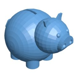 Piggy bank B003006 file stl free download 3D Model for CNC and 3d printer