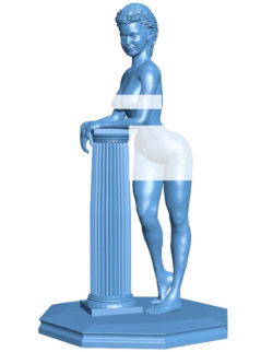 Pillar woman B003647 file stl free download 3D Model for CNC and 3d printer
