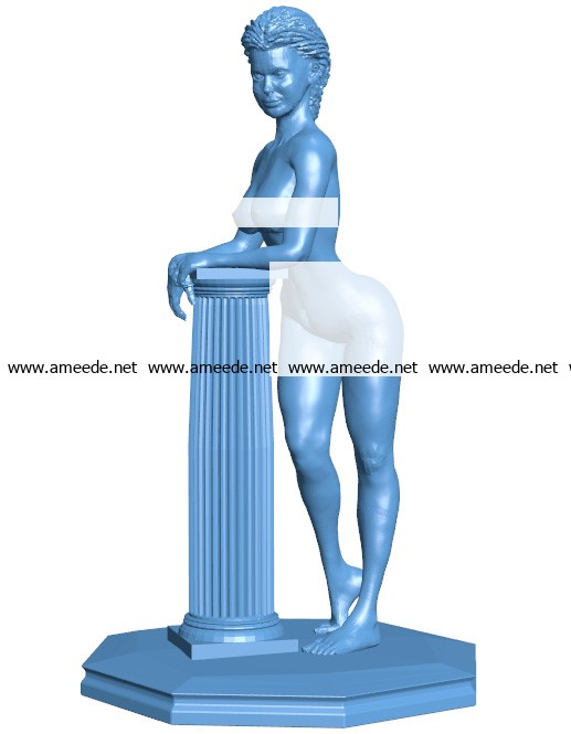 Pillar woman B003647 file stl free download 3D Model for CNC and 3d printer