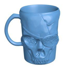 Pirate mug B003164 file stl free download 3D Model for CNC and 3d printer