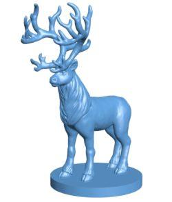 Rein deer B003325 file stl free download 3D Model for CNC and 3d printer