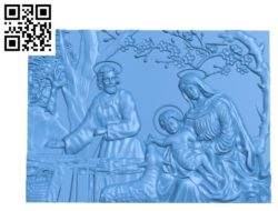 Religious picture A002828 wood carving file stl for Artcam and Aspire jdpaint free vector art 3d model download for CNC