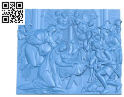 Religious picture A002829 wood carving file stl for Artcam and Aspire jdpaint free vector art 3d model download for CNC