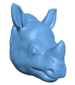 Rhino Head B002919 file stl free download 3D Model for CNC and 3d printer