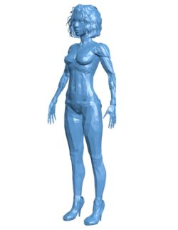 Robot girl B003489 file stl free download 3D Model for CNC and 3d printer