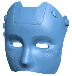 Robot mask B003651 file stl free download 3D Model for CNC and 3d printer