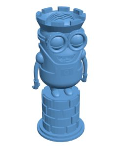 Rook Minion chess B002984 file stl free download 3D Model for CNC and 3d printer