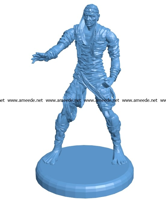 Scary Mummy men B003655 file stl free download 3D Model for CNC and 3d printer