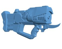 Sci-fi Submachine Gun B003666 file stl free download 3D Model for CNC and 3d printer