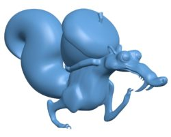 Scrat Ice Age B003669 file stl free download 3D Model for CNC and 3d printer
