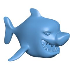 Shark Cartoon B003077 file stl free download 3D Model for CNC and 3d printer