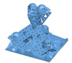 Skulls And Fractals B002970 file stl free download 3D Model for CNC and 3d printer