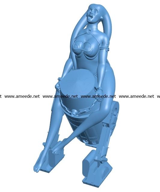 Slave Girl B003704 file stl free download 3D Model for CNC and 3d printer