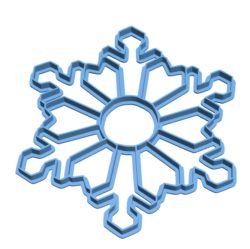 Snowflake Cookie Cutter B003163 file stl free download 3D Model for CNC and 3d printer